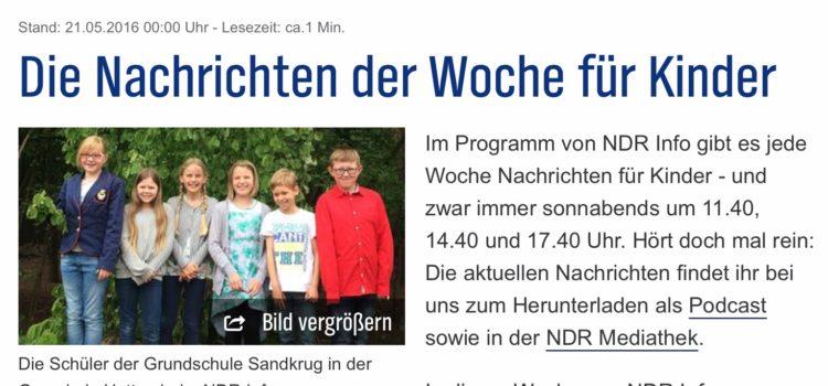 Wir produzieren für NDR info die Nachrichten für Kinder